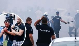 RIOTS: Fight in Serbia before youth derby game 02.06.2018