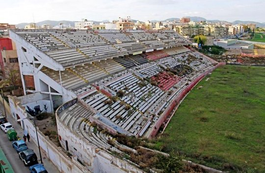 abandoned stadium estadio ll is sitjar. Black Bedroom Furniture Sets. Home Design Ideas