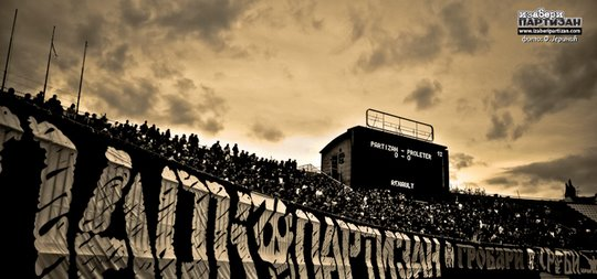 Image result for partizan belgrade supporters