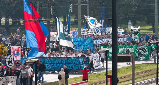 berlin ultras protest 2010
