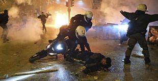 Riots in Greece after march against police violence