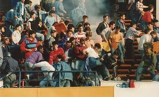 Resultado de imagen para red star belgrade ultras 1990