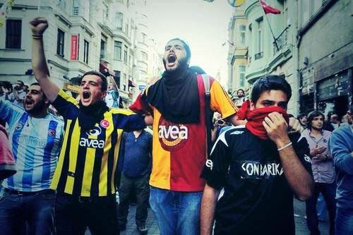 Turkish supporters united against government